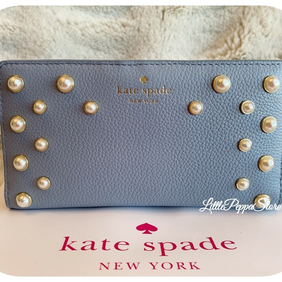 de34c70569bf NWT KATE SPADE LEATHER SERRANO PLACE PEARL STACY W NWT